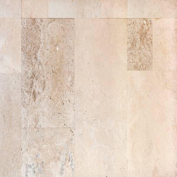carrelage pierre de travertin rustique terrasse extérieur