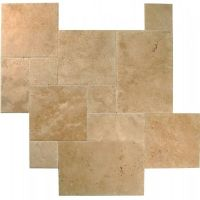 carrelage travertin opus romain 4 Formats beige nuancé