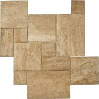 dalle travertin opus romain 4 formats beige adouci