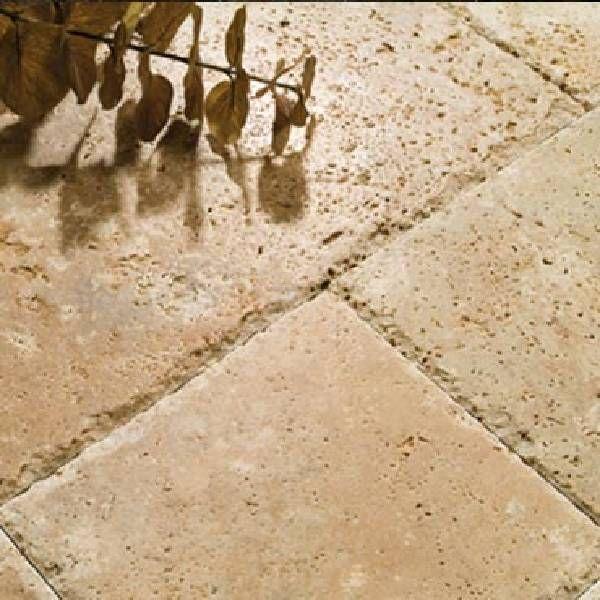 carrelage Noce clair, en travertin classique sol terrasse extérieur