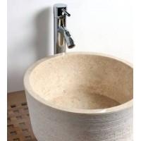 Vasque sur Pied en Pierre Brissac