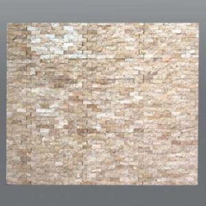 Plaquette de marbre beige  1,5 x 30 cm