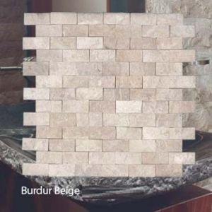 Plaquette de marbre beige  2,3 x 4,8 cm
