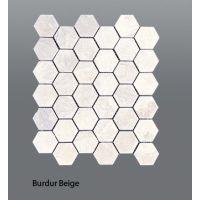 Plaquette de marbre beige  30,5 x 30,5 x 1 cm