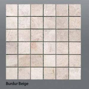Plaquette de marbre beige  5 x 5 cm