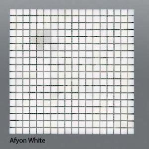 Plaquette de marbre blanc  1,5 x 1,5 cm