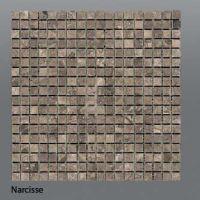 Plaquette de marbre narcisse  1,5 x 1,5 cm
