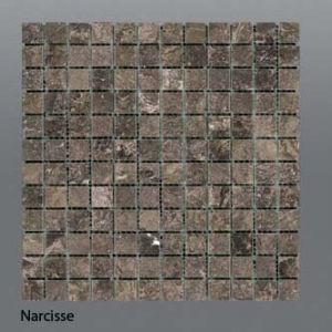 Plaquette de marbre narcisse  2,3 x 2,3 cm