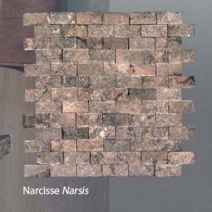 Plaquette de marbre narcisse  2,3 x 4,8 cm