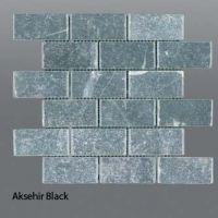 Plaquette de marbre noir  5 x 10 cm