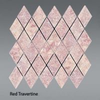 Plaquette de red traverten  30,5 x 30,5 x 1 cm