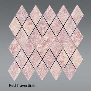 Plaquette de red traverten  30,5 x 30,5 x 1 cm