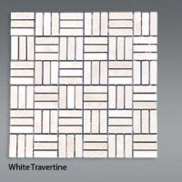 Plaquette de travertin blanc  1,5x4,5