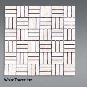 Plaquette de travertin blanc  1,5x4,5