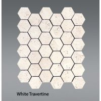 Plaquette de travertin blanc  30,5 x 30,5 x 1 cm