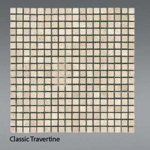 Plaquette de travertin classique  1,5 x 1,5 cm