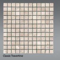 Plaquette de travertin classique  2,3 x 2,3 cm