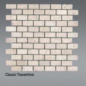 Plaquette de travertin classique  2,3 x 4,8 cm