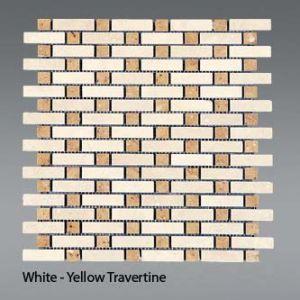 Plaquette de travertin classique & jaune  30,5 x 30,5 x 1 cm