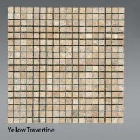 Plaquette de Travertin jaune  1,5 x 1,5 cm