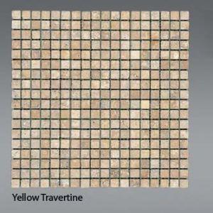 Plaquette de Travertin jaune  1,5 x 1,5 cm
