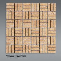 Plaquette de travertin jaune  1,5x4,5