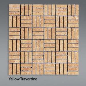 Plaquette de travertin jaune  1,5x4,5