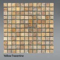 Plaquette de Travertin jaune  2,3 x 2,3 cm