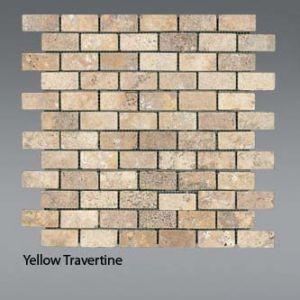 Plaquette de Travertin jaune  2,3 x 4,8 cm