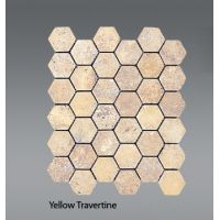 Plaquette de travertin jaune  30,5 x 30,5 x 1 cm
