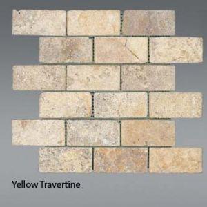 Plaquette de Travertin jaune  5 x 10 cm