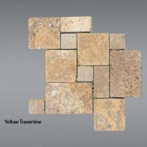 Plaquette de Travertin jaune  Mini set