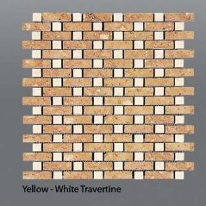 Plaquette de travertin jaune & classique  30,5 x 30,5 x 1 cm