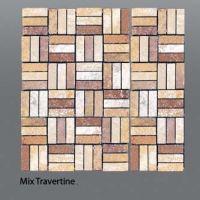Plaquette de travertin mix  1,5x4,5