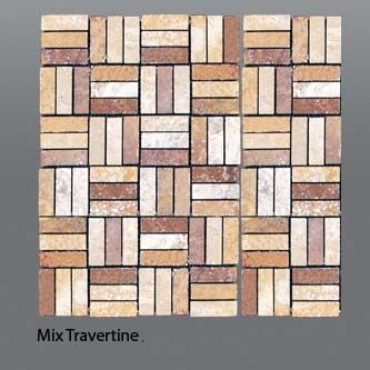 Plaquette de travertin mix  1,5x4,5