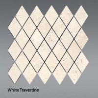 Plaquette de white travertine  30,5 x 30,5 x 1 cm