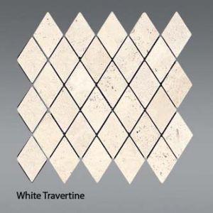 Plaquette de white travertine  30,5 x 30,5 x 1 cm