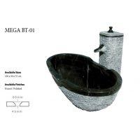 Baignoire en Marbre noir MG 1047