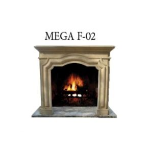 Habillage cheminée en Beyaz Traverten MG 1059