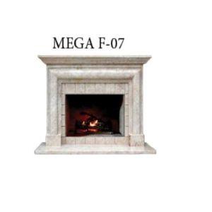 Habillage cheminée en Classic Traverten MG 1064